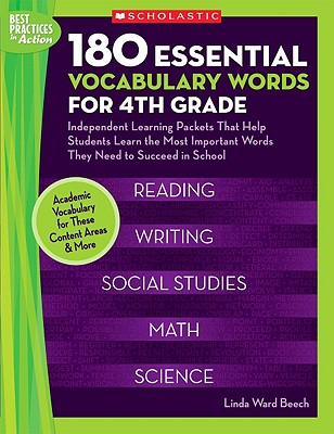 180 Essential Vocabulary Words for 4th Grade By Beech, Linda Ward